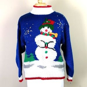 Vintage Ugly Christmas snowman sweater